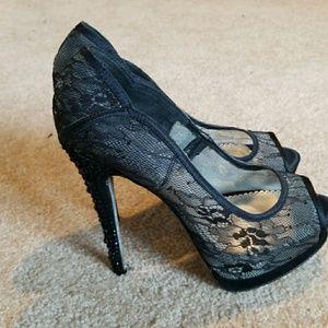 Bebe Rhinestone Heel Size 8.5